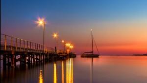 Yacht at Sunrise